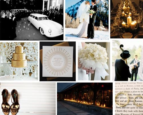 Inspiration Board #1: Gold Holiday Wedding