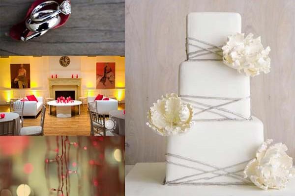 Inspiration Board # 3: Gray & Red Modern Wedding