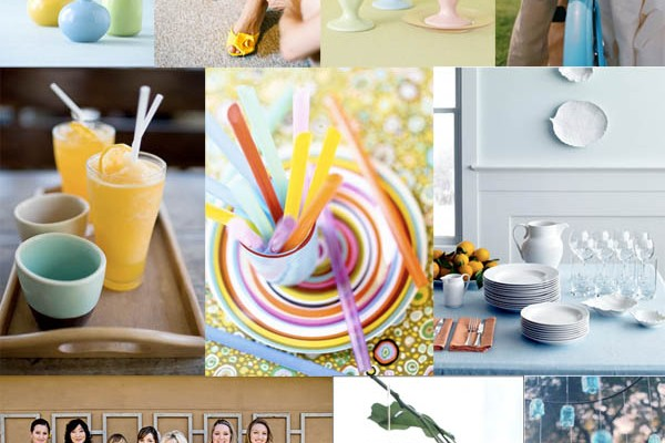 Inspiration Board #11: Orange, Yellow & Blue Spring Wedding