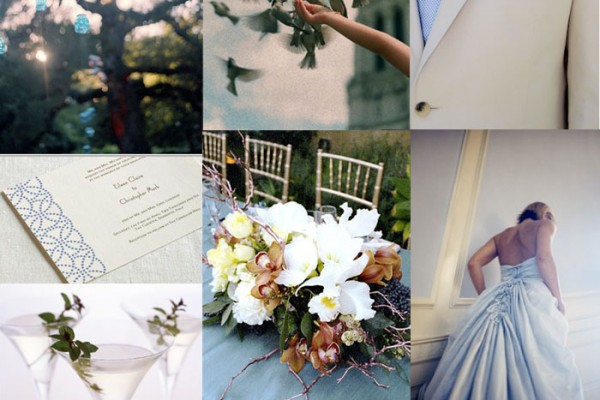 Inspiration Board #9: Soft Blue Wedding