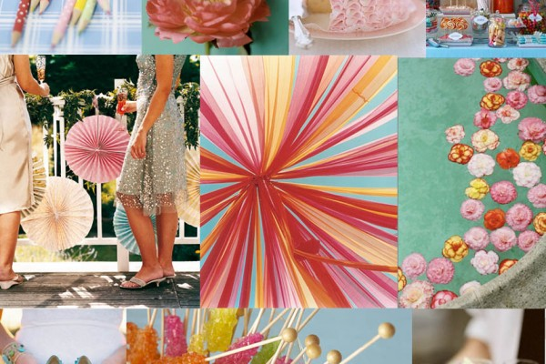 Inspiration Board #16: Aqua, Pink, & a dash of Yellow