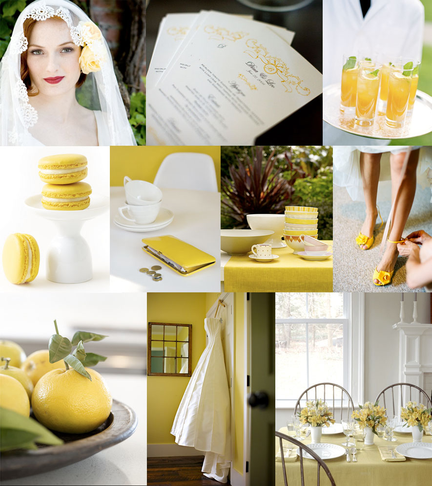 yellow white wedding santa barbara kelly oshiro