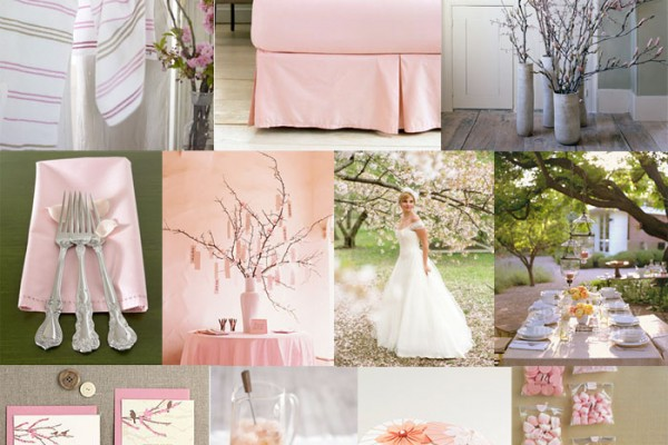 Inspiration Board #22: Cherry Blossom & Taupe