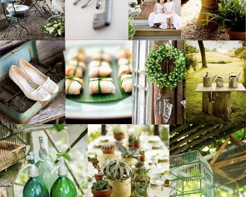 Inspiration Board #32: Garden Green Wedding