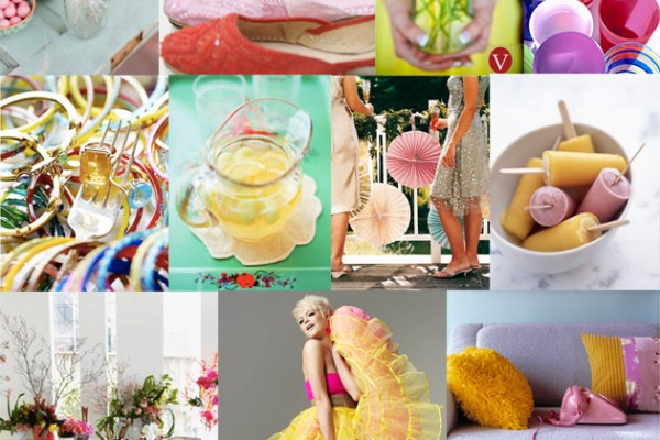 Inspiration Board #35: 80's Pink & Yellow
