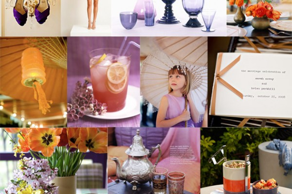 Inspiration Board #36: Purple & Orange