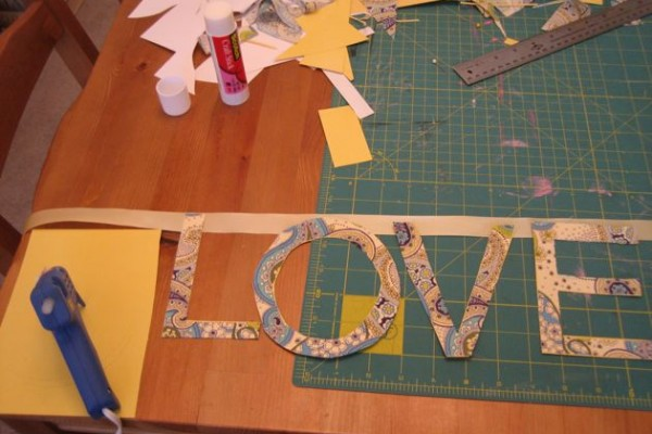 Mary & Josh: Fabric Letters