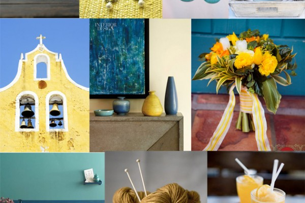 Inspiration Board #42: Blue & Yellow Pottery