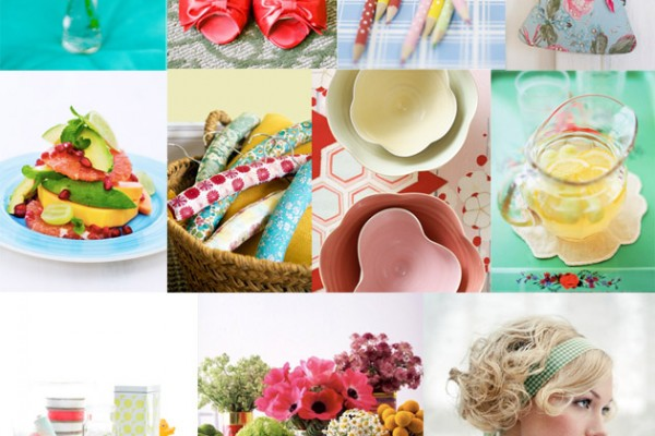 Inspiration Board #46: Pink & Green, and fun all over