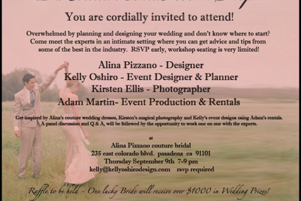 Come Meet me at the Couture Workshop!