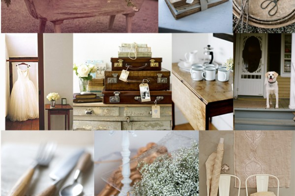 Inspiration Board #50: Wood Tones & White