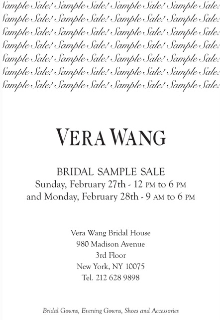VW Bridal House Sample Sale 22011