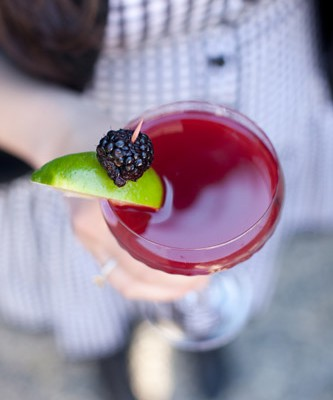 On the Rocks: Blackberry Gimlet