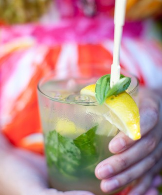 On the Rocks: Lemon Basil Margarita