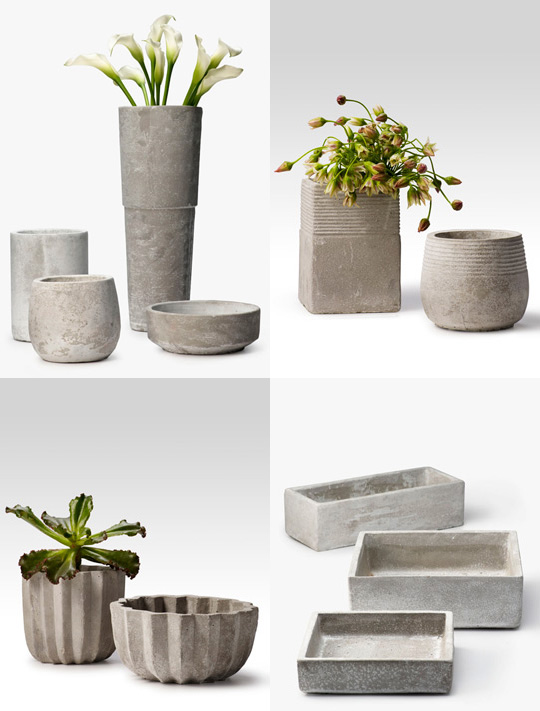 Cement Container Planters : Lately loving cement containers kelly oshiro