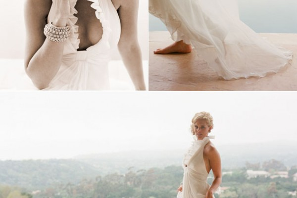 Ethereal Wedding Dress + Pop of Color