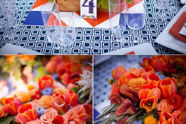 Real Wedding: Spanish Orange & Blue at Lincourt Winery