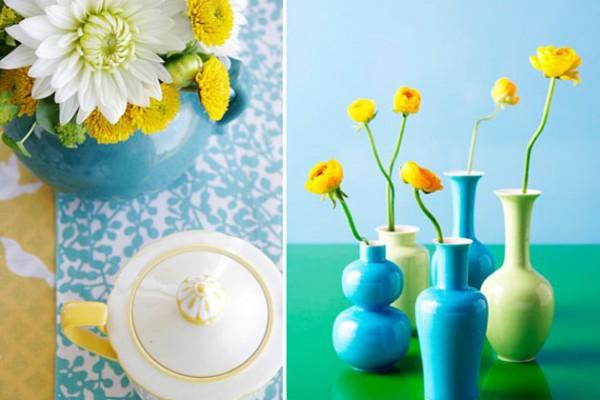 Color Palatte: Aqua + Yellow + White