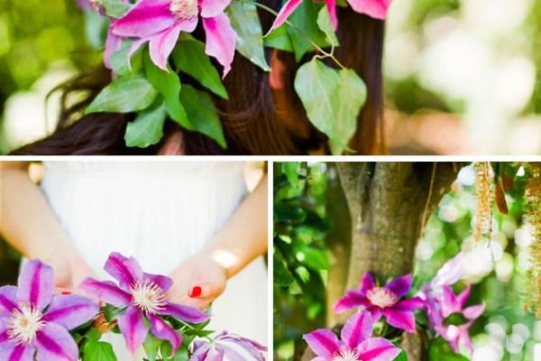 Flower Chic: A Clematis Headdress