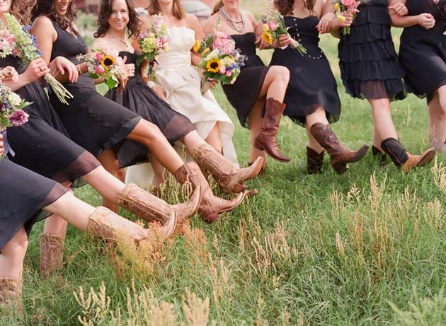 bride wearing boots Kelly Oshiro
