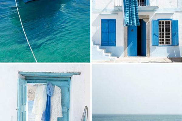 Color Palette: Ocean Blues + White
