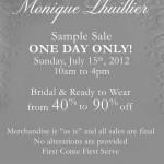 Monique Lhuillier Sample Sale 7.15.2012