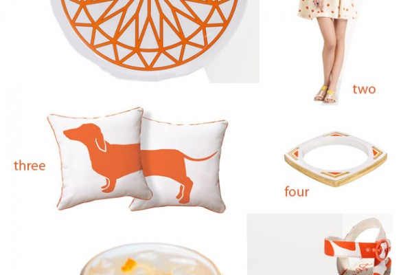 Color Palette: Summery Orange & White