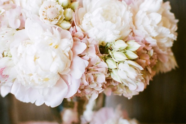 Flower Chic: Pink Peonies & Mercury Glass