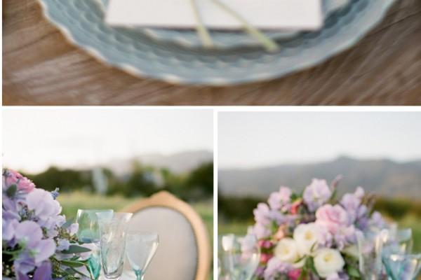 Editorial: Soft Pink & Purple Garden Wedding