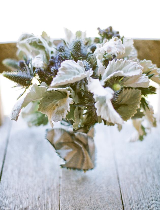 Flower Chic Modern Blue Gray Bouquet Los Angeles Prop Stylist