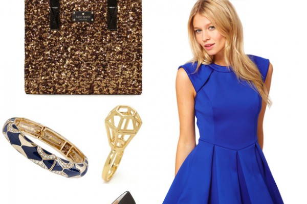 Let's Shop: Glamourous Gold & Royal Blue