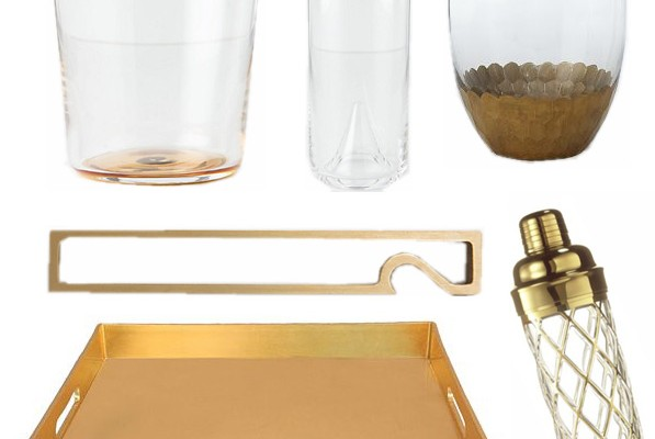 Let's Shop: Gold Bar Cart Accessories
