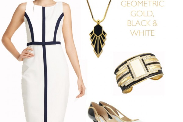 Let's Shop: Geometric Black, White & Gold