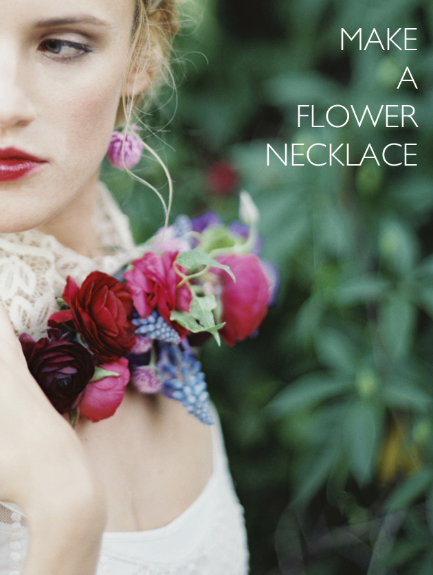 Flower Chic Make A Flower Necklace Los Angeles Prop Stylist