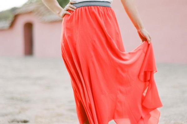 Fashionable: An Orange Maxi Skirt