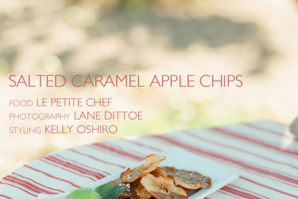 Salted Caramel Apple Chips with Le Petite Chef