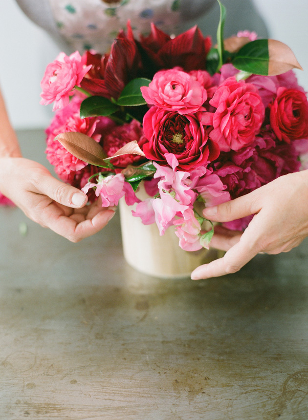 Hot pink floral arrangements kelly oshiro i asked camille of camilla floral mightylinksfo