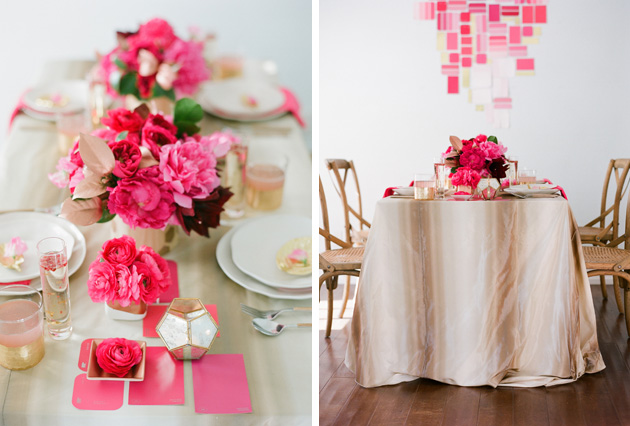 hot pink and gold wedding ideas | Kelly Oshiro