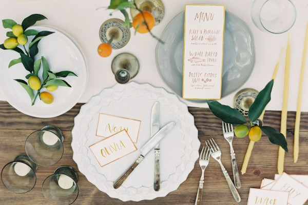 Citrus Inspired Tablescape by Amy Merrick