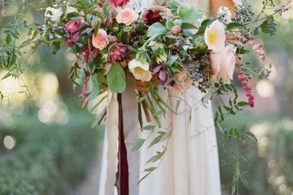 Lush Wedding Bouquet & Ceremony Inspiration by Amy Osaba