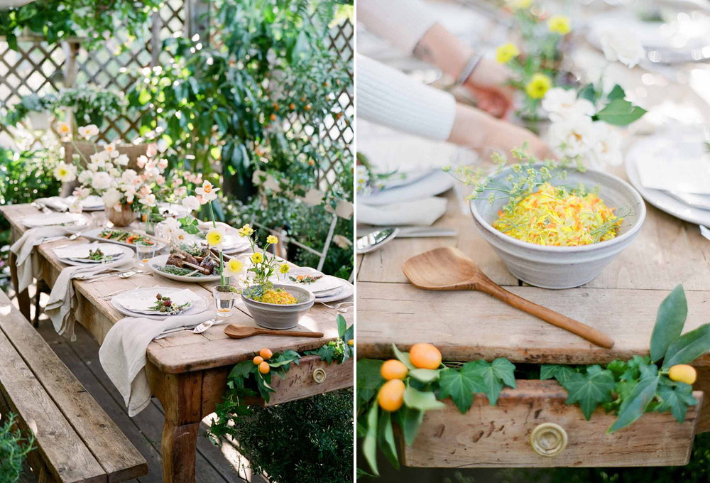 kellyoshiro.com | photo: Michelle Beller | Editorial Stylist Los Angeles | Botanical Entertaining Ideas
