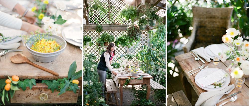 kellyoshiro.com | flat lay stylist los angeles prop stylist | photo: michelle beller | botanical greenhouse entertaining ideas