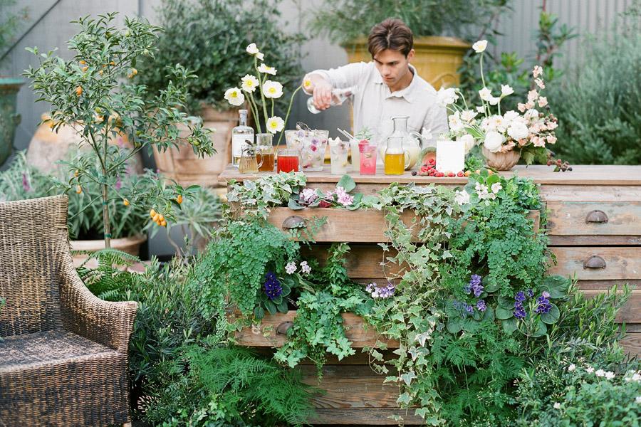 kellyoshiro.com | Los Angeles Set Design | Photo: Michelle Beller | Botanical bar ideas
